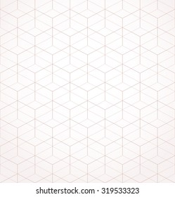 Abstract geometric pattern with rhombuses. Repeating seamless vector background.