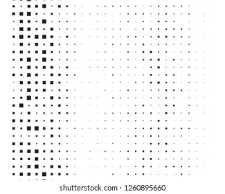 Abstract geometric pattern with small and large squares. Design element for web banners, posters, cards, wallpapers, backdrops, panels Black and white color Vector illustration