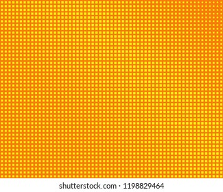Abstract geometric pattern with small squares. Design element for web banners, posters, cards, wallpapers, backdrops, panels Yellow and orange color Vector illustration