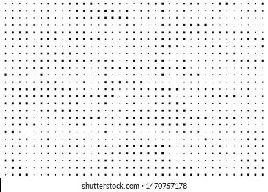 Abstract geometric pattern with small squares. Design element for web banners, posters, cards, wallpapers, backdrops, panels Black and white color Vector illustration
