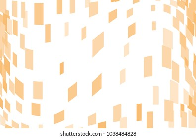 Abstract geometric pattern with squares, rectangles. Design element for web banners, posters, cards, wallpapers, backdrops, panels Orange color Vector illustration