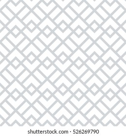 Abstract geometric pattern with squares, rhombuses. A seamless vector background. Grey and white graphic pattern.