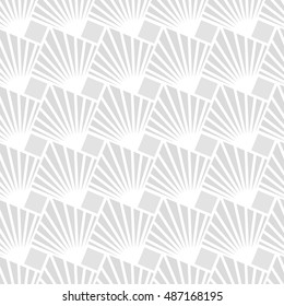 Abstract geometric pattern with squares. A seamless vector background. Gray and white texture. Graphic modern pattern.