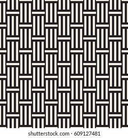 Abstract Geometric Pattern With Stripes Lattice. Seamless Vector Background