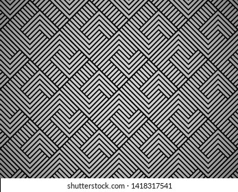 Abstract geometric pattern with stripes, lines. Seamless vector background. Black ornament. Simple lattice graphic design