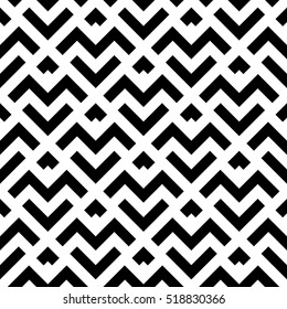 Abstract geometric pattern with stripes, lines. A seamless vector background. Black and white texture.