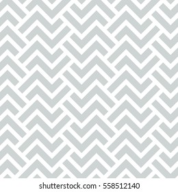 Abstract geometric pattern with stripes, lines. A seamless vector background. Gray and white texture. Graphic modern pattern