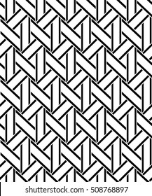 Abstract geometric pattern with stripes. A seamless vector background. Black and white texture. Graphic modern pattern.
