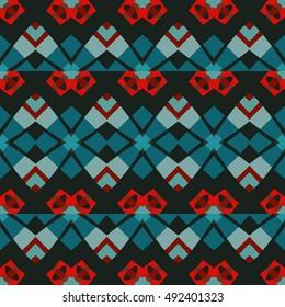 Abstract geometric pattern. Textile printing, web design, Identity, wallpaper.