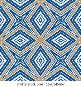 Abstract geometric pattern. The texture imitates wool or fabric with a pile. Seamless pattern for design of clothes or home textile. Stock vector illustration.