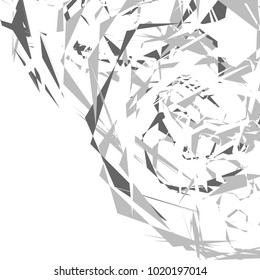 Abstract geometric pattern, texture. Random, chaotic pattern element