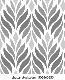 Abstract geometric  petal flower. Vector pattern