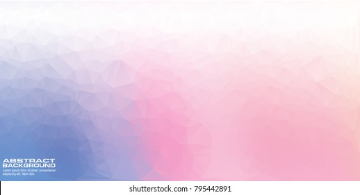 Abstract geometric pink pastel background with triangular polygons, Sweet color low poly design wallpaper.