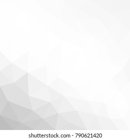 Abstract geometric polygonal grey white background with mesh of triangles for your design. White texture. Paper texture. Trend. Low poly.