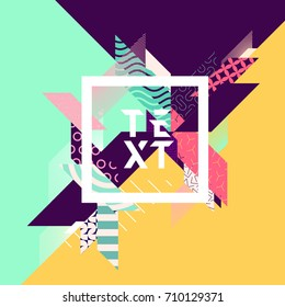 Abstract geometric poster with place for text