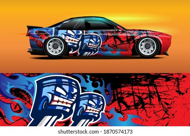 Abstract geometric Racing background for vinyl wrap and decal