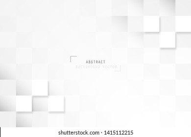Abstract geometric rectangle pattern design in white and gray background. Creative minimal design in EPS10 vector illustration.