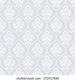 Abstract Geometric Retro Texture. Seamless pattern. Floral lightning ornament. Grey background/Vector illustration
