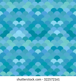 Abstract geometric round fish scale  pattern