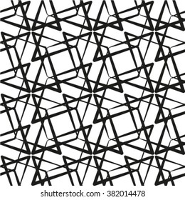 Abstract geometric seamless pattern. Black and white style pattern.