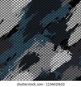 Abstract geometric seamless pattern. Graphic vector. Racing background for vinyl wrap and decal. Grunge, neon texture pattern. Sports textile. Fashion military.