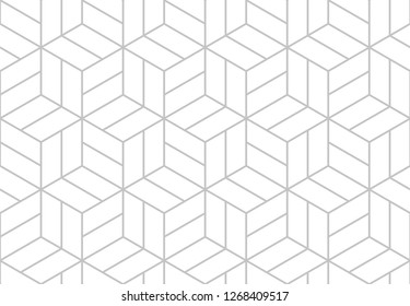 Abstract geometric seamless pattern. Gray and white. Modern stylish texture repeating vector background.