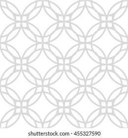 Abstract geometric seamless pattern. Gray and white style pattern with circle.