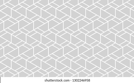 Abstract geometric seamless pattern. Modern stylish texture. Repeating hexagons vector background.