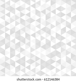 Abstract geometric seamless triangle pattern background. Gray and white vector backdrop