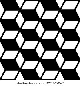 Abstract geometric seamless vector pattern, modern black and white repetitive decoration.  Trendy monochrome endless design, wallpaper art, linear background