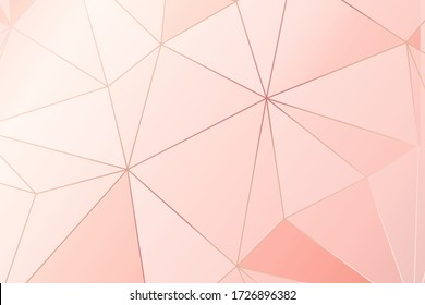 Abstract geometric shape  pastel color background