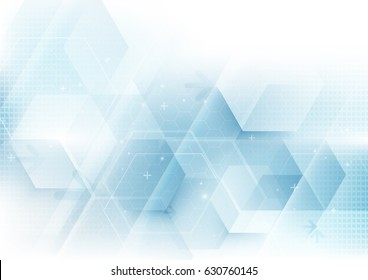 Abstract geometric shape technology digital hi tech concept background. Space for your text