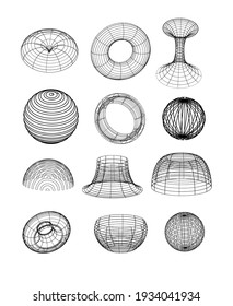 Abstract geometric shapes collection isolated. Use it for web, print poster or iuser nterface design.