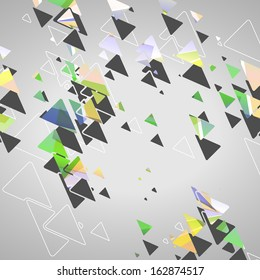 Abstract geometric shapes, dynamic illustration.