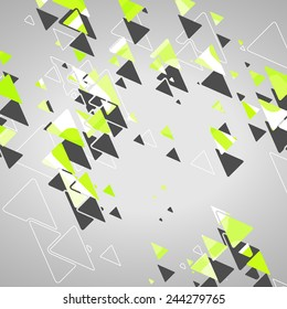 Abstract geometric shapes dynamic illustration.
