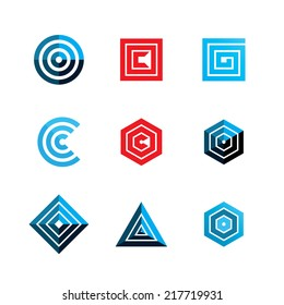 abstract geometric shapes. template logo design. vector eps8
