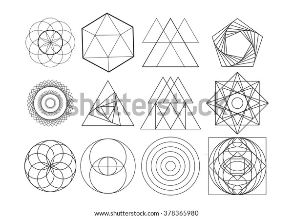 Abstract Geometric Shapes Vector Image Stock Vector (Royalty