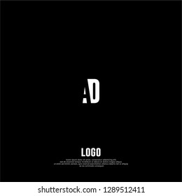 abstract geometric simple elegant AO logo letters design concept