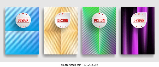 Abstract Geometric Stripe Pattern. Linear backdrop . Colorful background . Poster, brochure geometric design .  Vector.