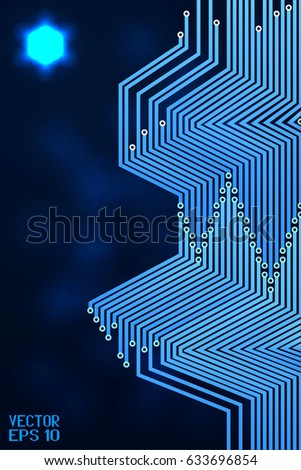 Abstract Geometric Striped Pattern Scientific Technological