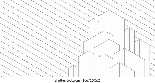 Abstract geometric technological background. Architectural construction. Vector creative design. - Shutterstock ID 1867160521
