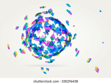 Abstract geometric technology vector design element.