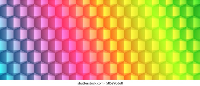 Abstract geometric texture banner design full vector