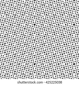 Abstract geometric texture. Irregular grid, mesh seamlessly repeatable monochrome pattern.