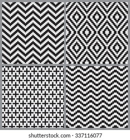 Abstract geometric tiling seamless pattern background, Vector illustration