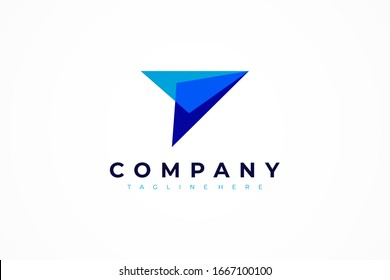 Abstract Geometric Triangle Arrow Up Business Logo. Flat Vector Logo Design Template Element.