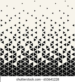 abstract geometric triangle halftone gradient  vector pattern