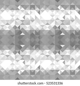 Abstract geometric triangle silver gray mosaic futuristic background for your amazing holiday design.