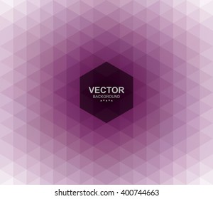 Abstract geometric triangular background. Easy to change color. Pattern design for banner, poster, flyer, card, postcard, cover, brochure.