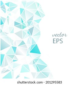 Abstract Geometric Triangular Background with Teal Blue Triangles